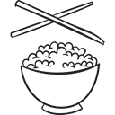 Bowls, food, Chopstick, Restaurant, Bowl, Chinese Food, oriental Black icon
