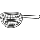 Strainers, Kitchen Utensil, Handles, Kitchen Utensils, Kitchen Tools, Kitchen Pack Black icon