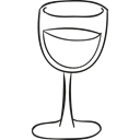 wine, glass, Crystal, drinking, drink, Alcohol Black icon