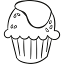 Bakery, baker, food, Dessert, breakfast, Cupcakes, sweet Black icon
