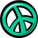 Peace LightSeaGreen icon