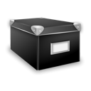 Box, Closed Black icon