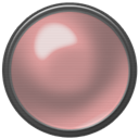 button, red, off RosyBrown icon