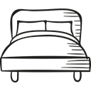 sleep, Sleeping, bedroom, Rest, hotel Black icon