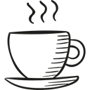 food, hot drink, coffee cup, Coffee Shop, drinks, tea Black icon