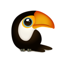 tuqui, trans, Animal, toucan, bird Black icon