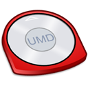 red, umd Black icon