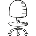 Chairs, buildings, Office Material, Seat, wheels, room Black icon