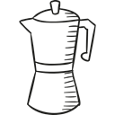 drinks, Coffees, hot drink, kettle, Coffee Pot Black icon