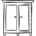 storage, clothing, room, bedroom, Clothes, buildings Black icon