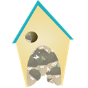house, Building, Home, homepage PaleGoldenrod icon