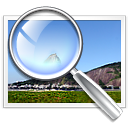 image, Find, Kview, search, seek, zoom, pic, magnifying glass, picture, photo CornflowerBlue icon