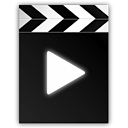 movie, Clapperboard, play, video, film Black icon