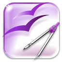 Openofficeorg, Painting, Draw, paint Lavender icon