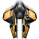fighter, Kspaceduel, spaceship DarkSlateGray icon