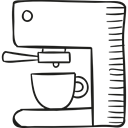 Coffee Shop, coffee cup, hot drink, drinks, Coffees Black icon