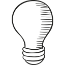 invention, light, Light Bulbs, technology, Electric, Idea, electricity Black icon