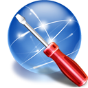Networksettings SteelBlue icon