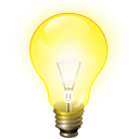 tip, Ktip, Light bulb, Idea Yellow icon