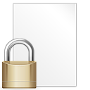 locked, File, paper, Lock, document, security Icon