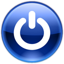 turn off, Power off, shutdown MidnightBlue icon
