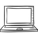 laptop computer, computing, technology, portable, Open Laptop Black icon