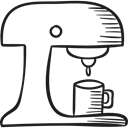 coffee cup, hot drink, Coffee Shop, technology, Coffees, drinks Black icon