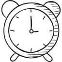 watch, timer, time, clocks, alarm clock Black icon