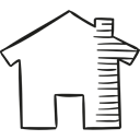 houses, house, website, buildings, web page, real estate Black icon