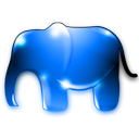 Animal, elephant, Phppg DodgerBlue icon