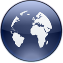 world, internet, earth, planet, globe MidnightBlue icon