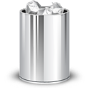trash can, Full DarkGray icon