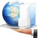 Folder, file share, Hand, share, internet WhiteSmoke icon