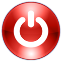 logout, shutdown, turn off, quit, Power off, power, log out, Exit, sign out Firebrick icon