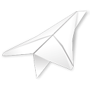 Folder, paper plane, outbox, Folded Black icon