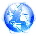planet, global, earth, network, internet, globe, world DodgerBlue icon