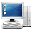Systemtray, Computer, screen, Display, monitor Silver icon