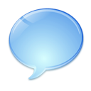 baloon, Chat, speak, Comment, talk SkyBlue icon
