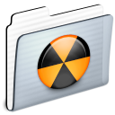 Burnable, Folder Black icon