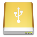 Usb, Hd Khaki icon