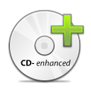 save, Disk, Cd, disc, enhanced WhiteSmoke icon