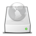drive, network Black icon