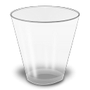 outline, Trash, recycle bin WhiteSmoke icon
