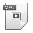 video, mpg, Mpeg Gainsboro icon