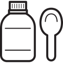 Bottle, doctor, medicine, medical, Health Care Black icon