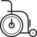 Disabled, Health Care, hospital, disability, disable, medical, Health Clinic Black icon