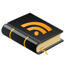 Rss, reading, read, feed, Book, subscribe Black icon