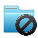 Folder, Block SkyBlue icon