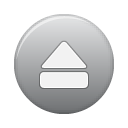 Eject, grey, button Silver icon