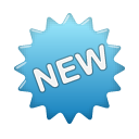 new, Blue, Label SteelBlue icon